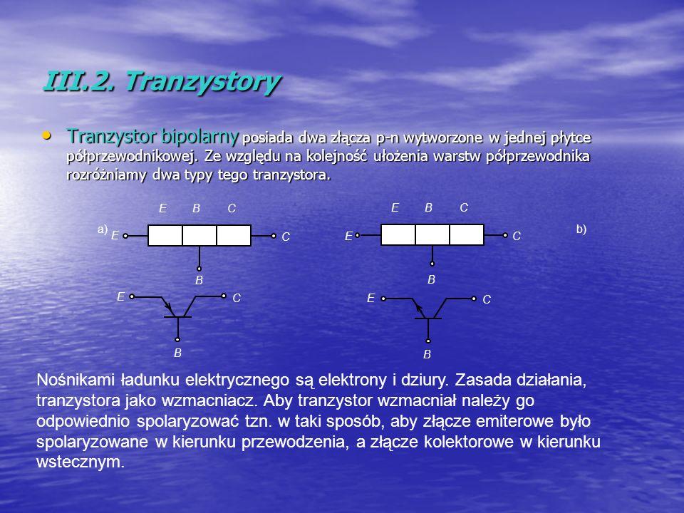 III.2. Tranzystory