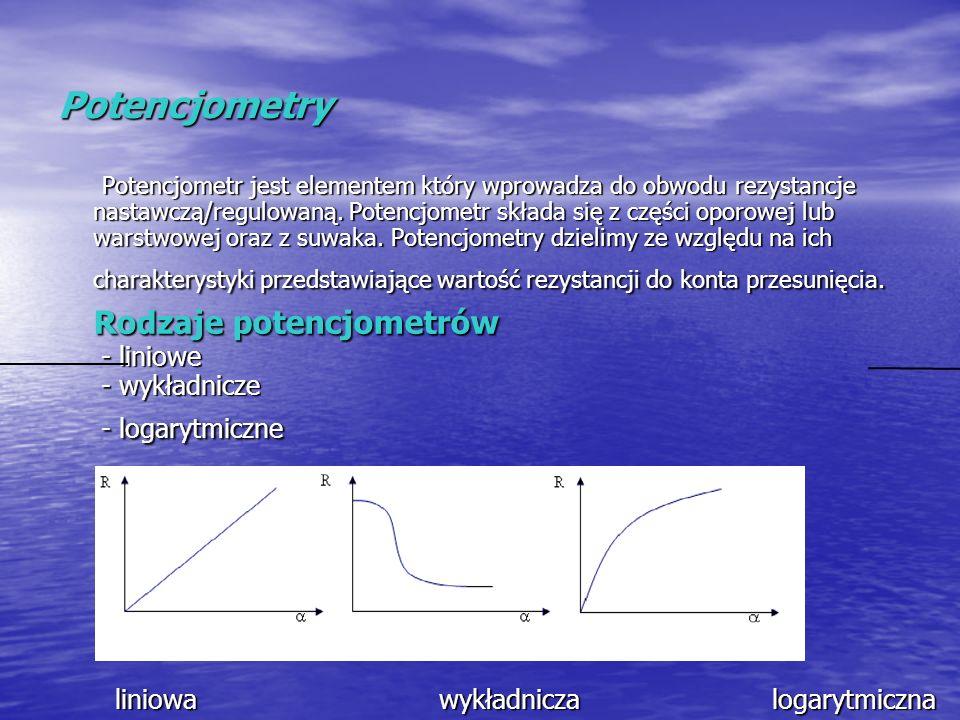 Potencjometry liniowa wykładnicza logarytmiczna