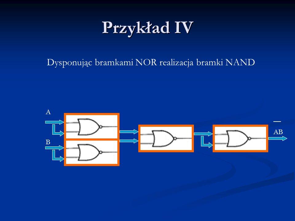 Dysponując bramkami NOR realizacja bramki NAND