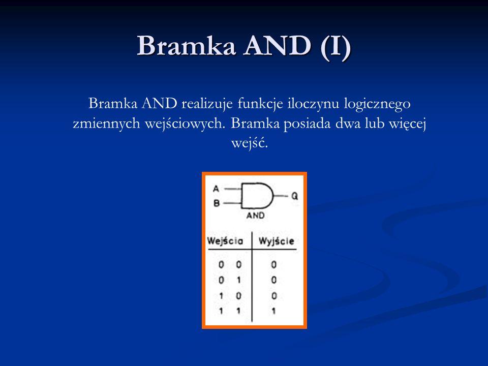 Bramka AND (I) Bramka AND realizuje funkcje iloczynu logicznego zmiennych wejściowych.