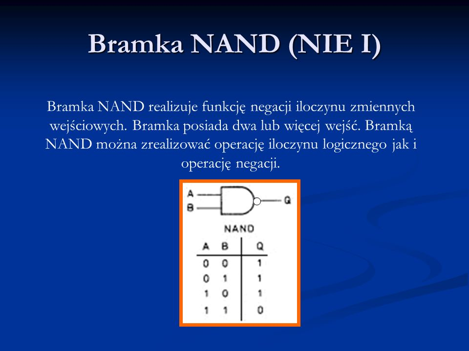 Bramka NAND (NIE I)