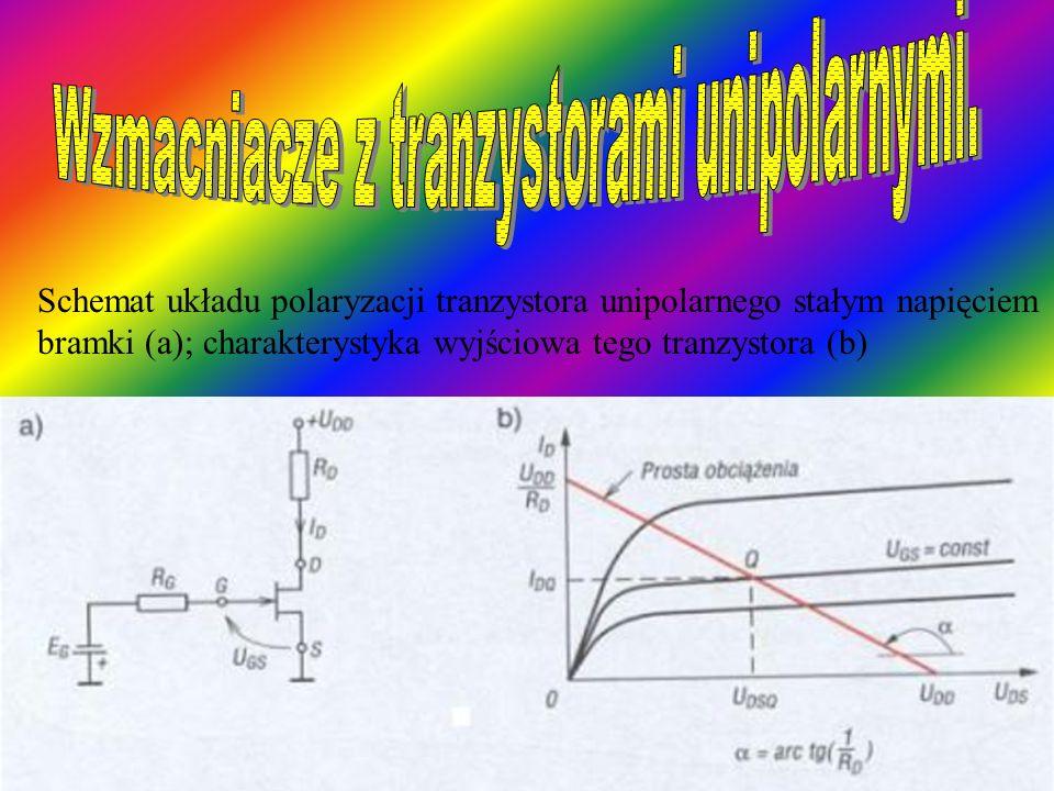 Wzmacniacze z tranzystorami unipolarnymi.