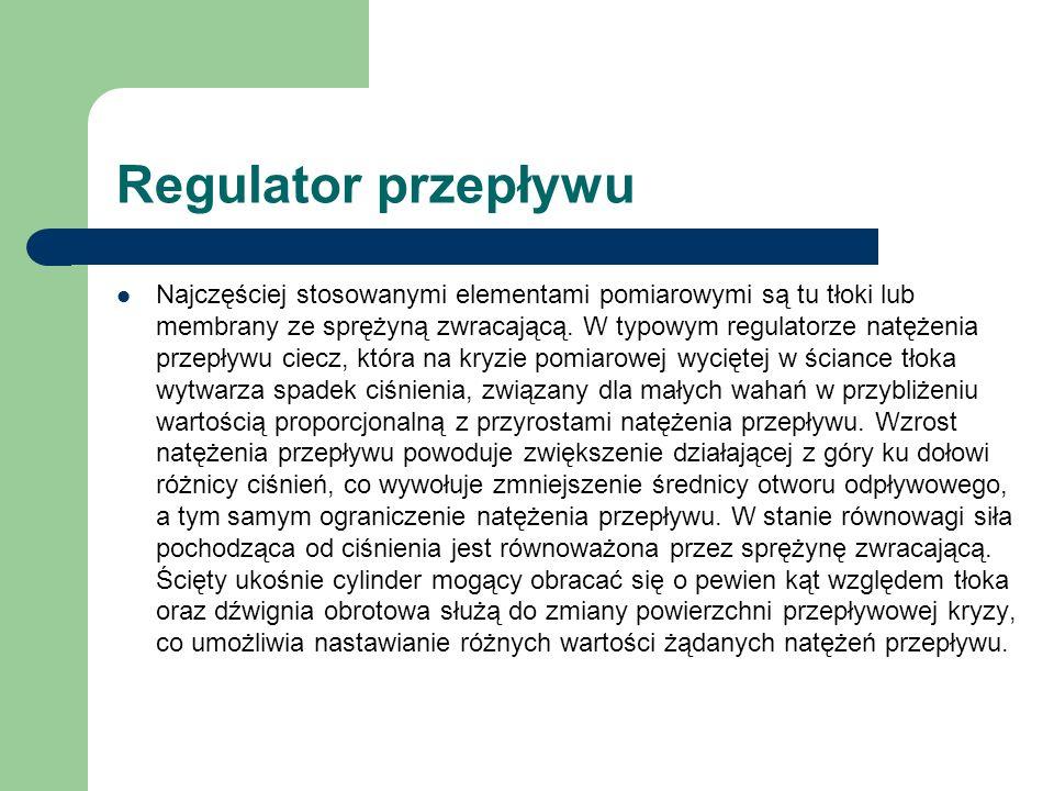 Regulator przepływu