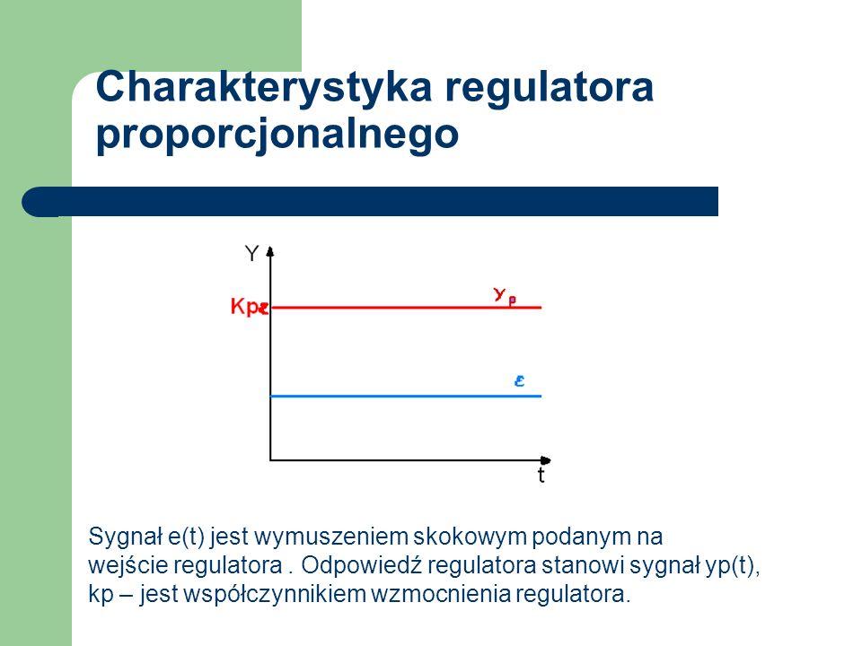 Charakterystyka regulatora proporcjonalnego