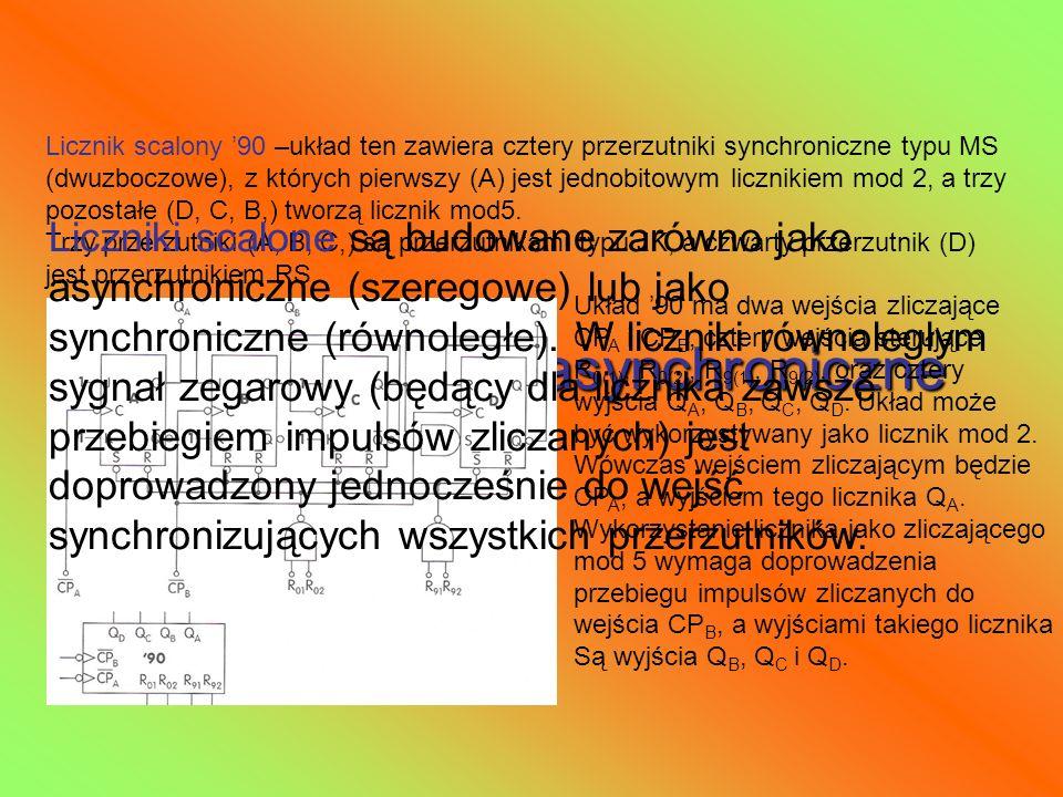 Scalone liczniki asynchroniczne