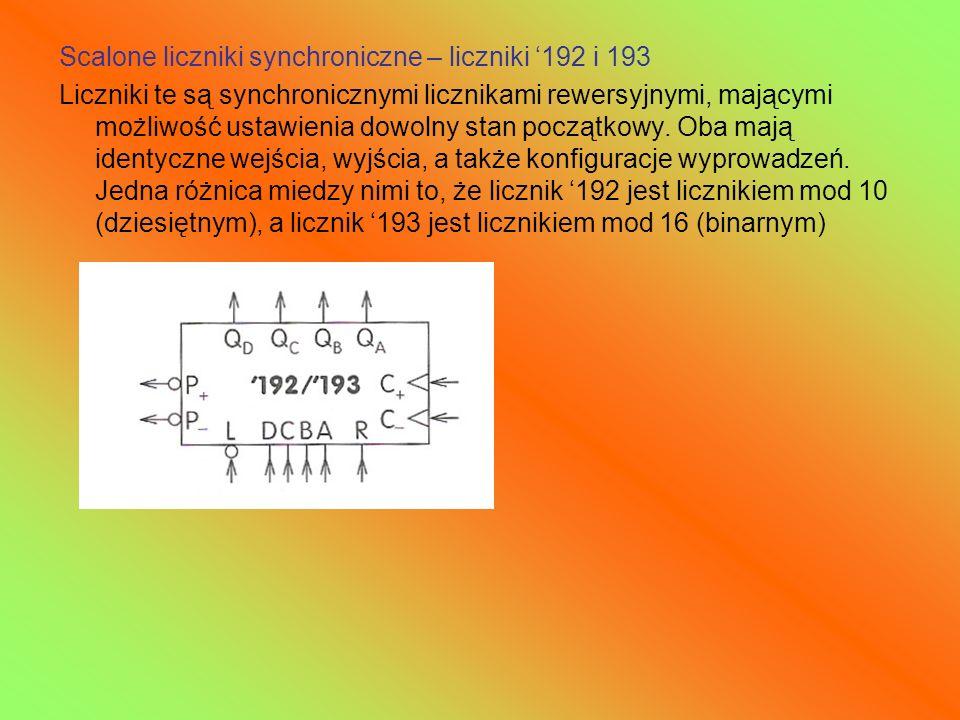Scalone liczniki synchroniczne – liczniki '192 i 193