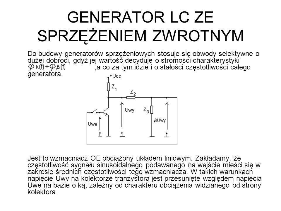 GENERATOR LC ZE SPRZĘŻENIEM ZWROTNYM