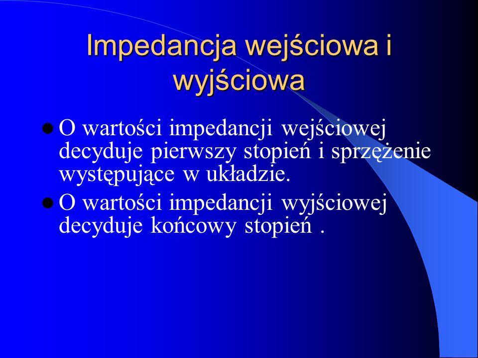 Impedancja wejściowa i wyjściowa