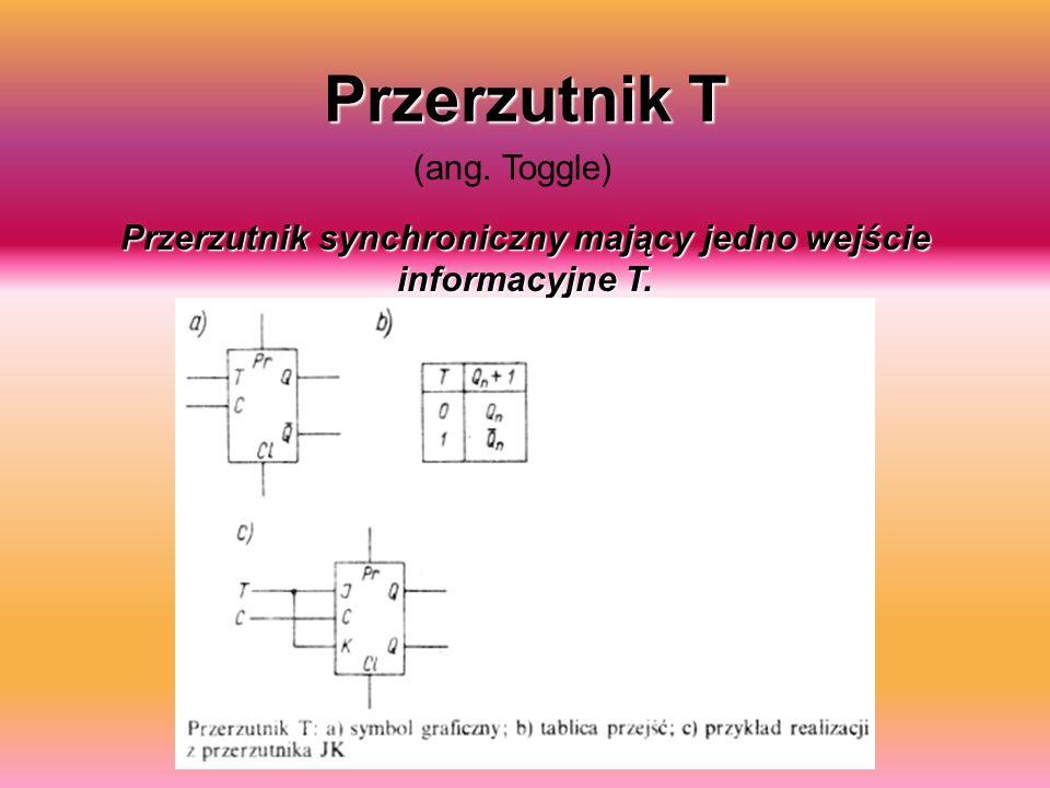 Przerzutnik synchroniczny mający jedno wejście informacyjne T.