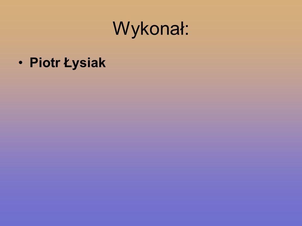 Wykonał: Piotr Łysiak