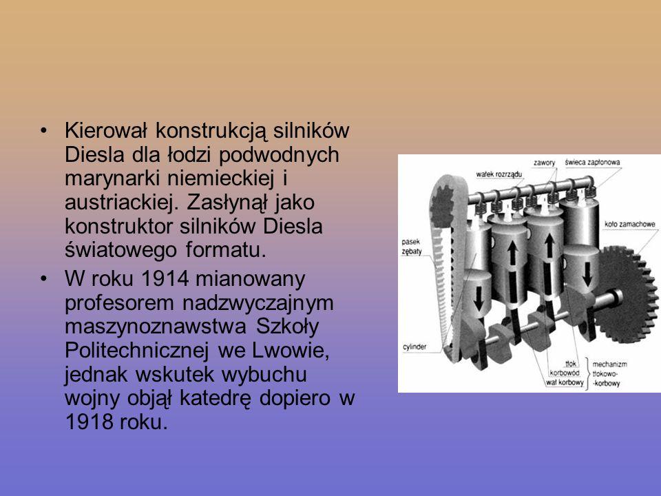 Kierował konstrukcją silników Diesla dla łodzi podwodnych marynarki niemieckiej i austriackiej. Zasłynął jako konstruktor silników Diesla światowego formatu.