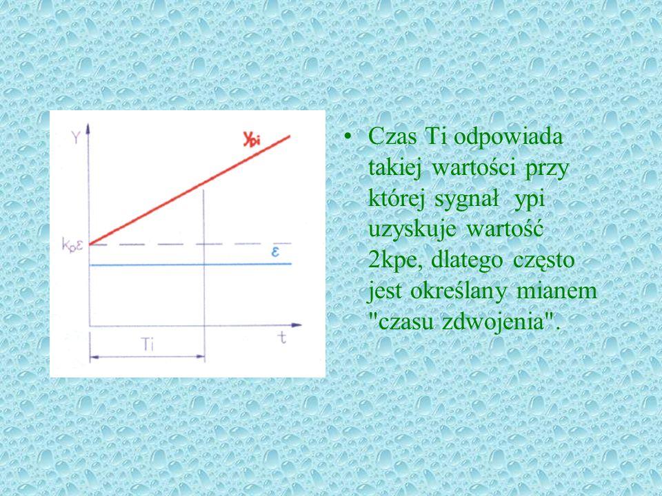 Czas Ti odpowiada takiej wartości przy której sygnał ypi uzyskuje wartość 2kpe, dlatego często jest określany mianem czasu zdwojenia .