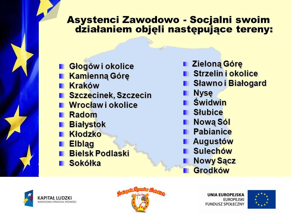 Asystenci Zawodowo - Socjalni swoim działaniem objęli następujące tereny: