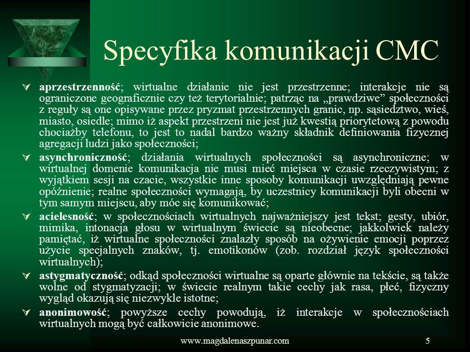 Specyfika komunikacji CMC