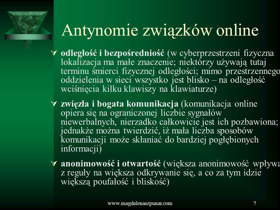 Antynomie związków online