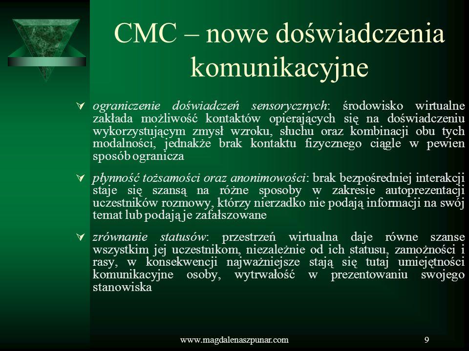 CMC – nowe doświadczenia komunikacyjne