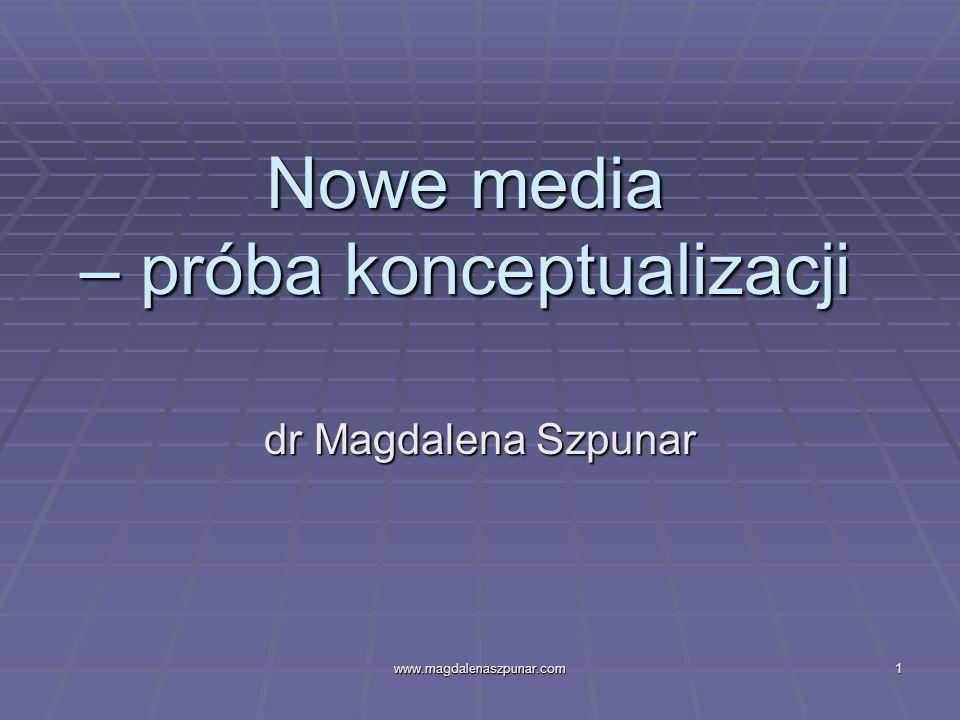Nowe media – próba konceptualizacji