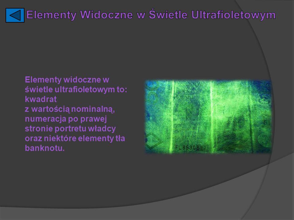 Elementy Widoczne w Świetle Ultrafioletowym
