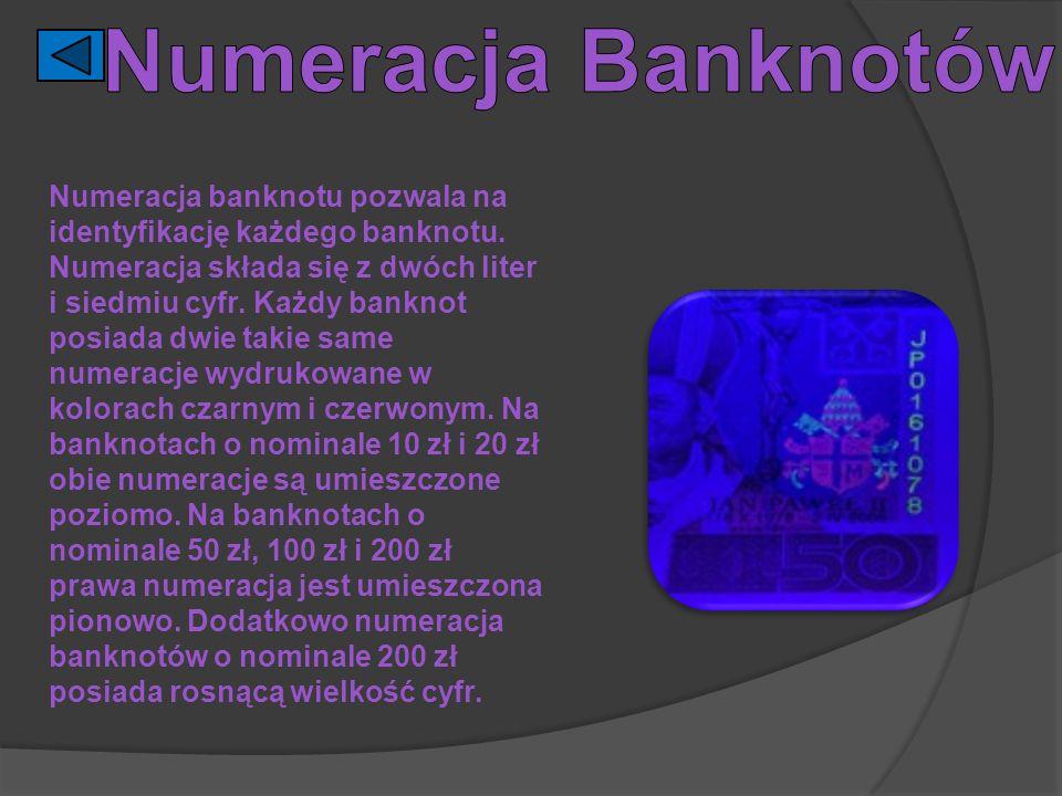 Numeracja Banknotów