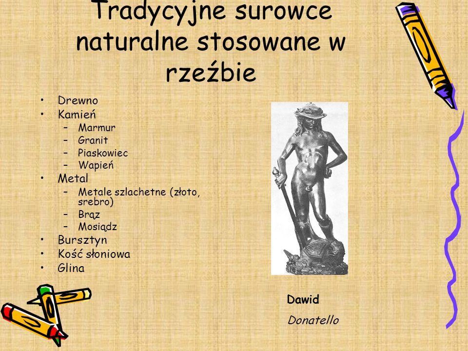 Tradycyjne surowce naturalne stosowane w rzeźbie