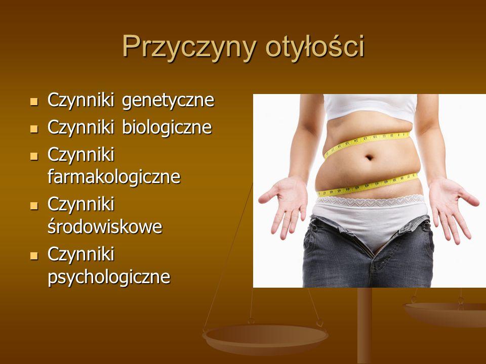 Przyczyny otyłości Czynniki genetyczne Czynniki biologiczne