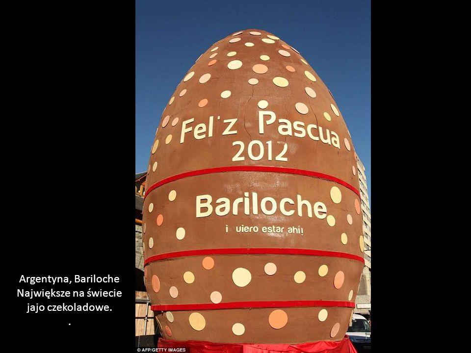 Argentyna, Bariloche Największe na świecie jajo czekoladowe. .