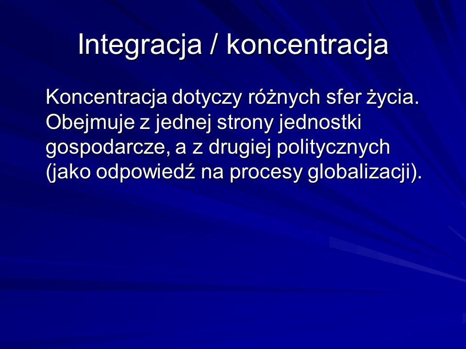Integracja / koncentracja
