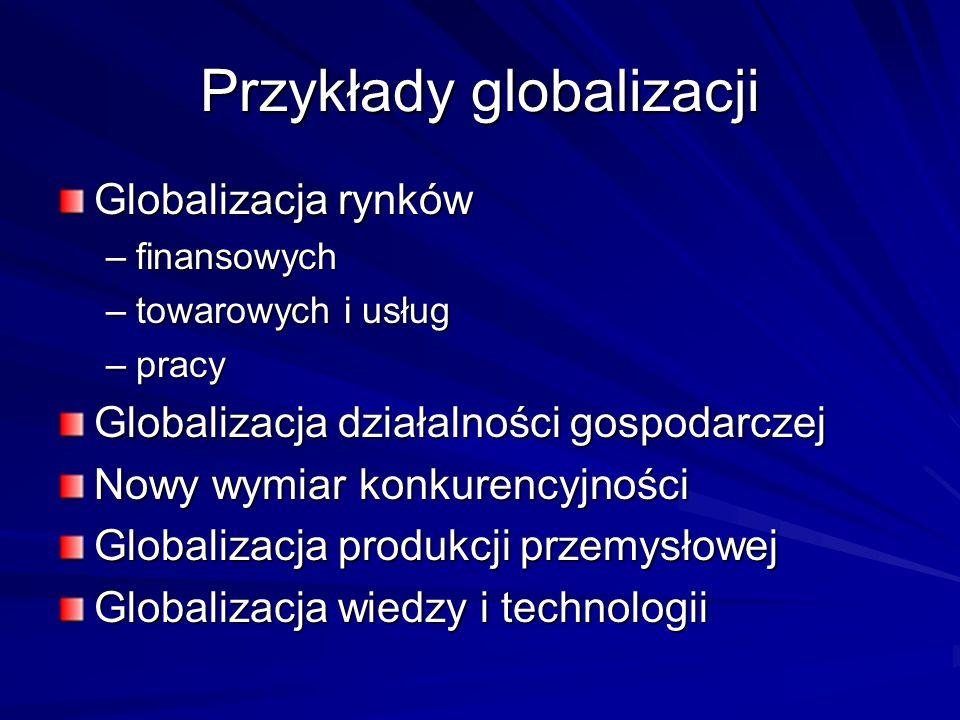 Przykłady globalizacji