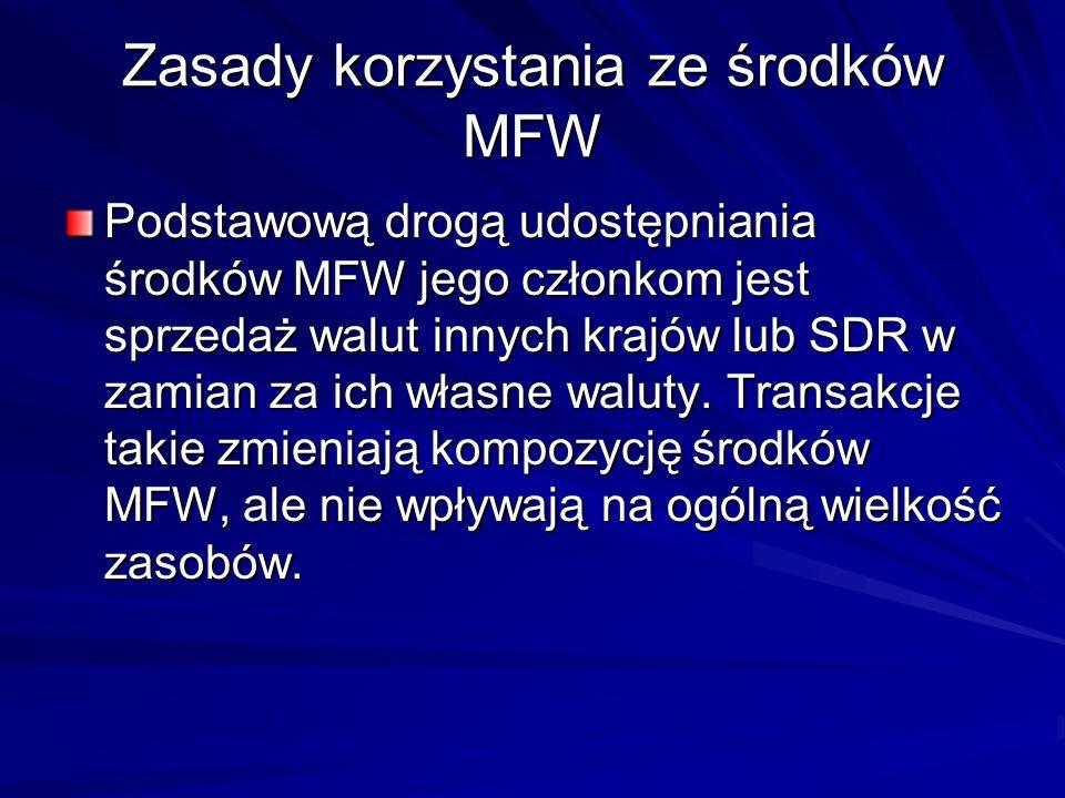 Zasady korzystania ze środków MFW