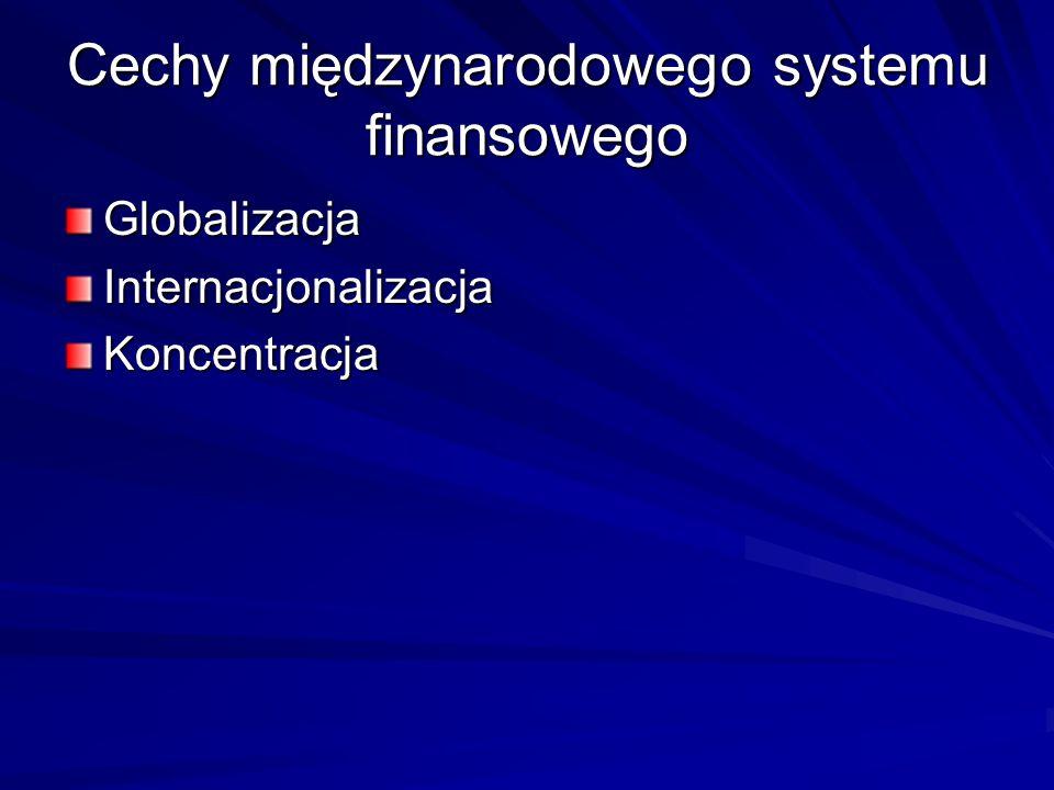 Cechy międzynarodowego systemu finansowego