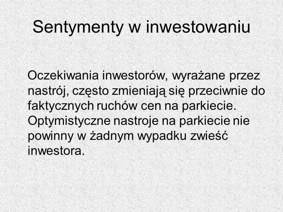 Sentymenty w inwestowaniu