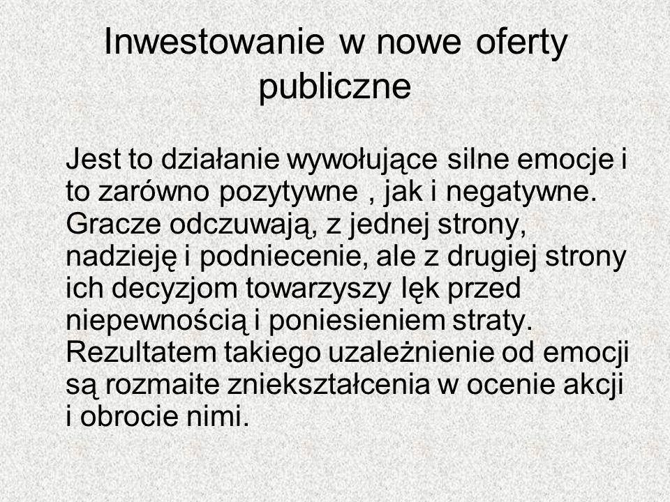Inwestowanie w nowe oferty publiczne