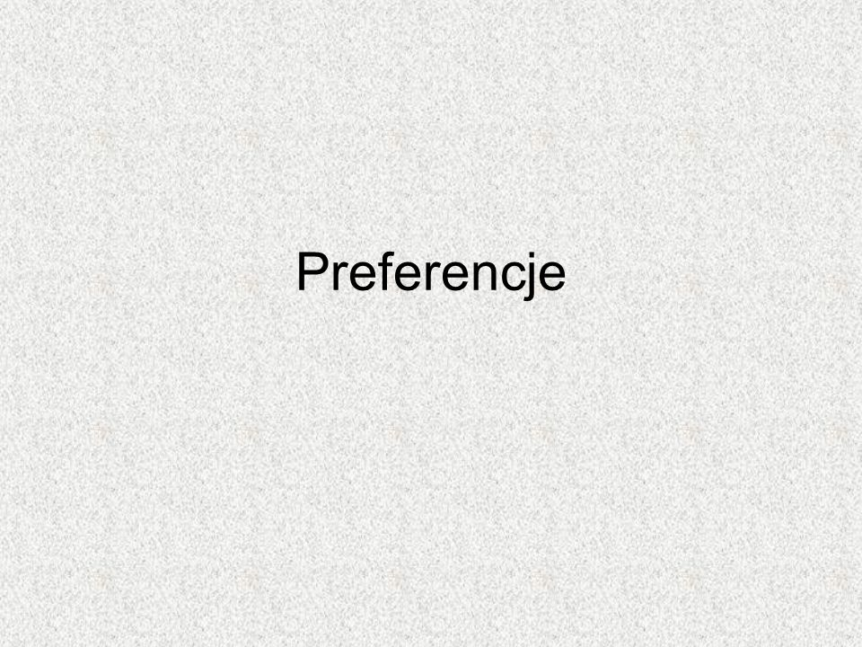 Preferencje