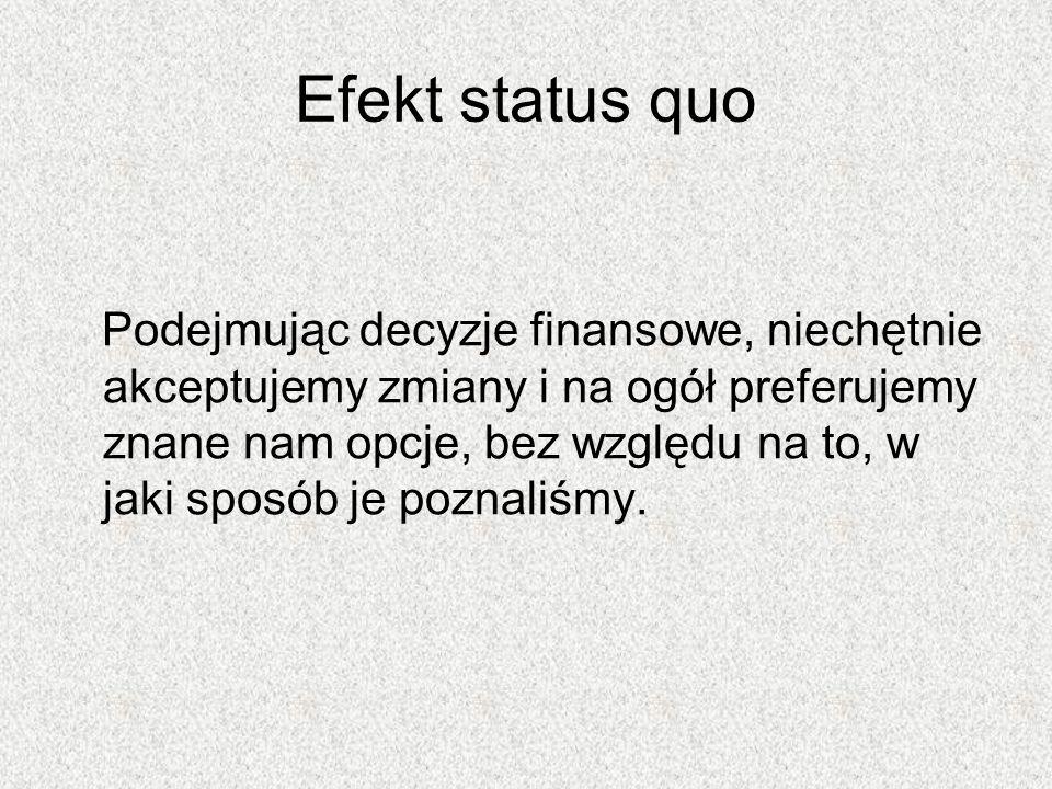Efekt status quo