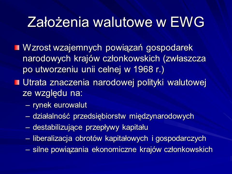 Założenia walutowe w EWG