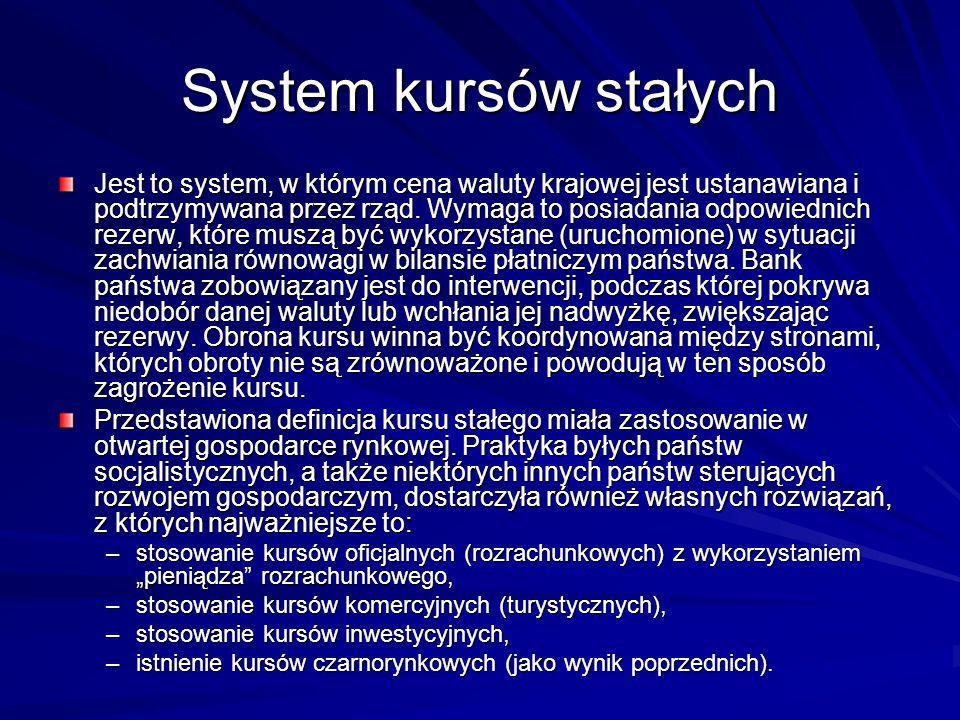 System kursów stałych