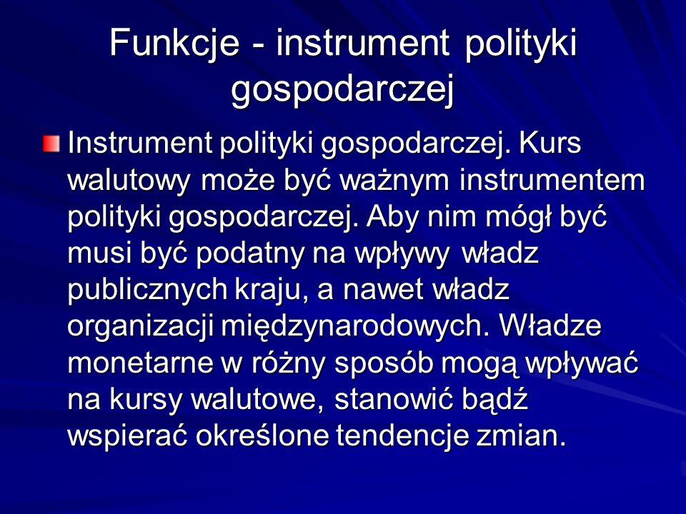 Funkcje - instrument polityki gospodarczej