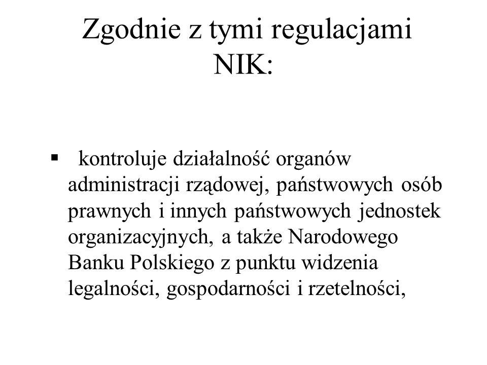 Zgodnie z tymi regulacjami NIK: