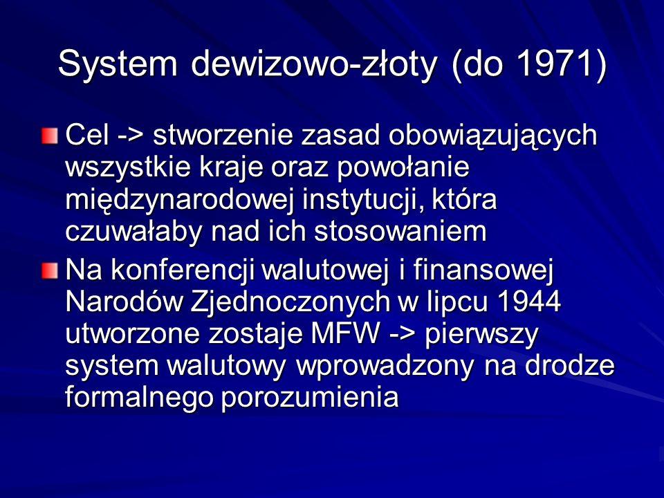 System dewizowo-złoty (do 1971)