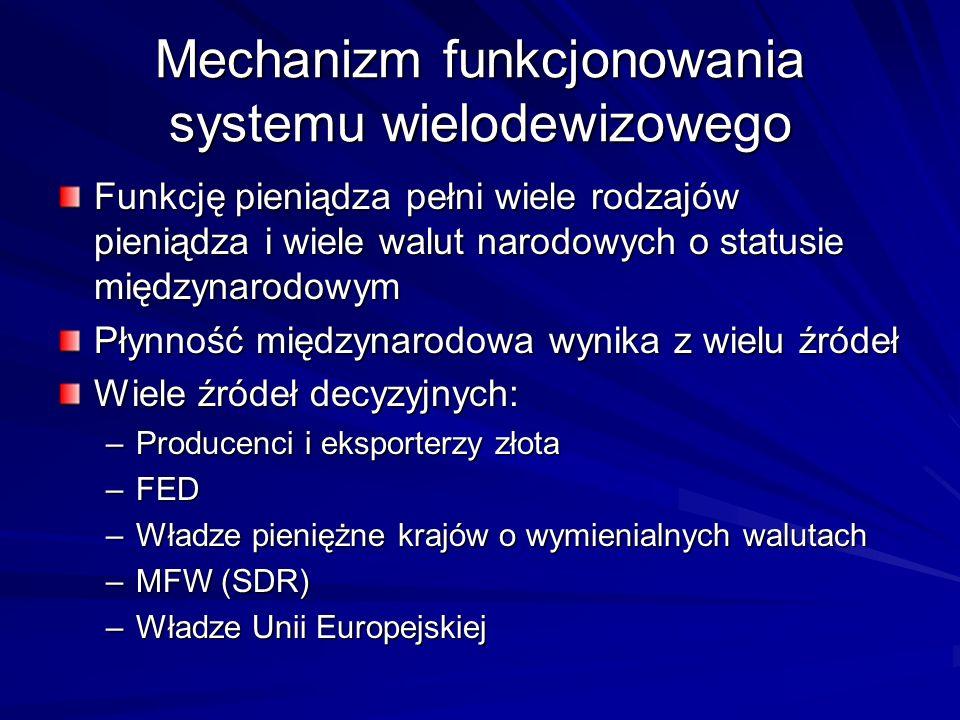 Mechanizm funkcjonowania systemu wielodewizowego