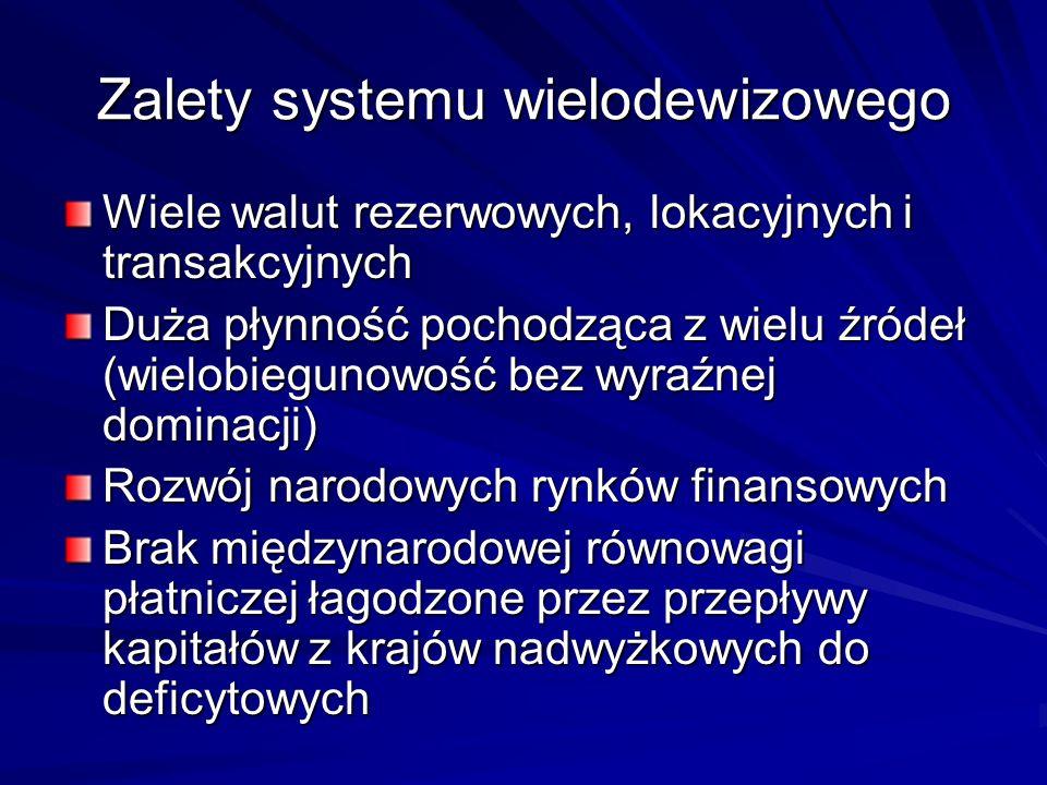 Zalety systemu wielodewizowego