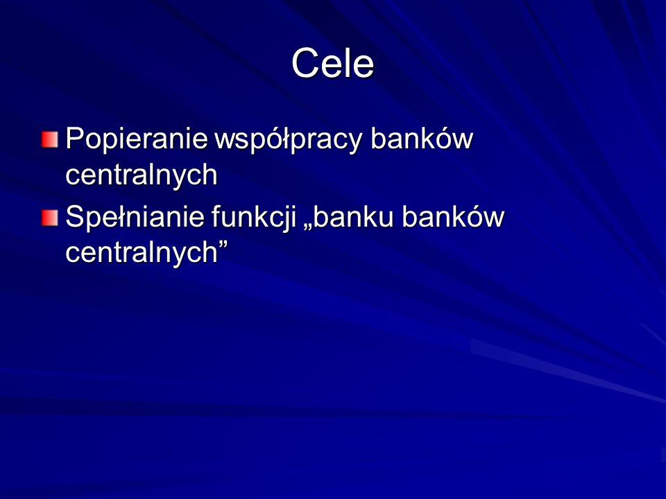Cele Popieranie współpracy banków centralnych