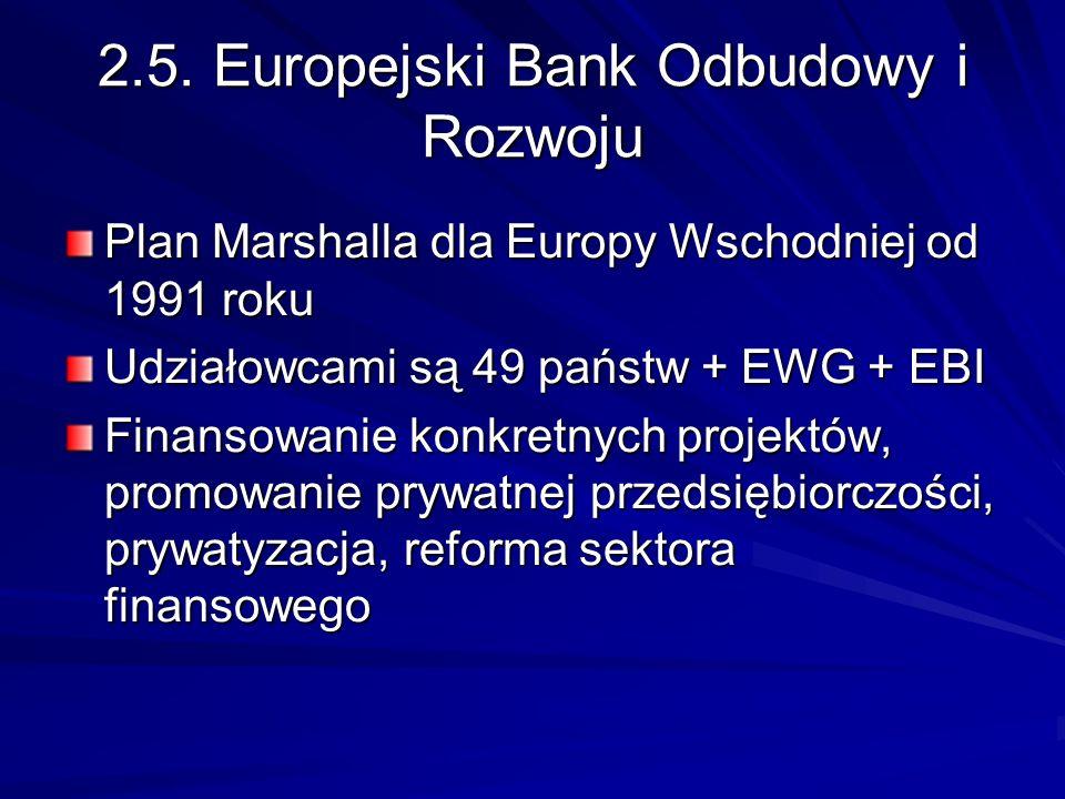 2.5. Europejski Bank Odbudowy i Rozwoju