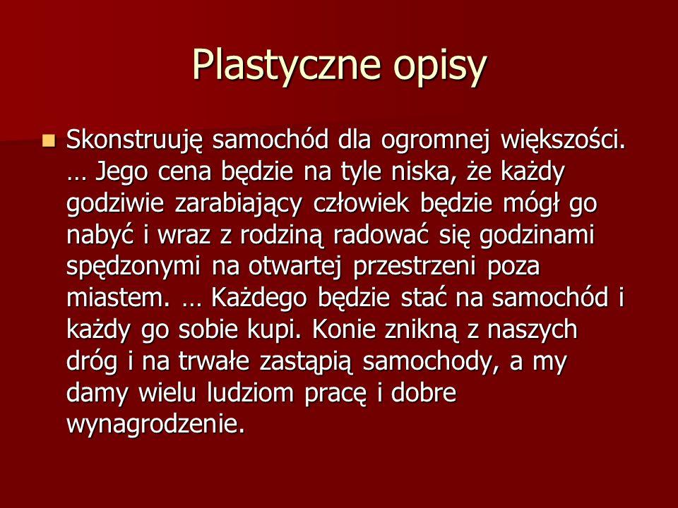 Plastyczne opisy