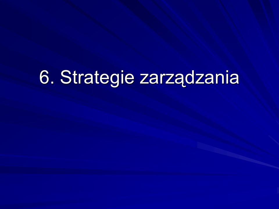 6. Strategie zarządzania