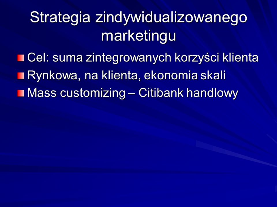 Strategia zindywidualizowanego marketingu