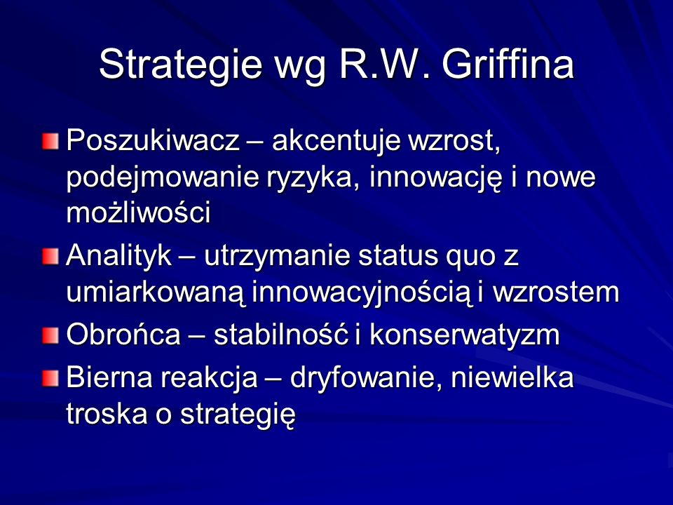 Strategie wg R.W. Griffina
