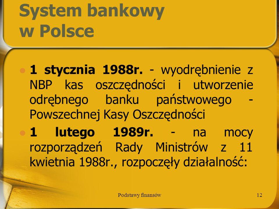 System bankowy w Polsce