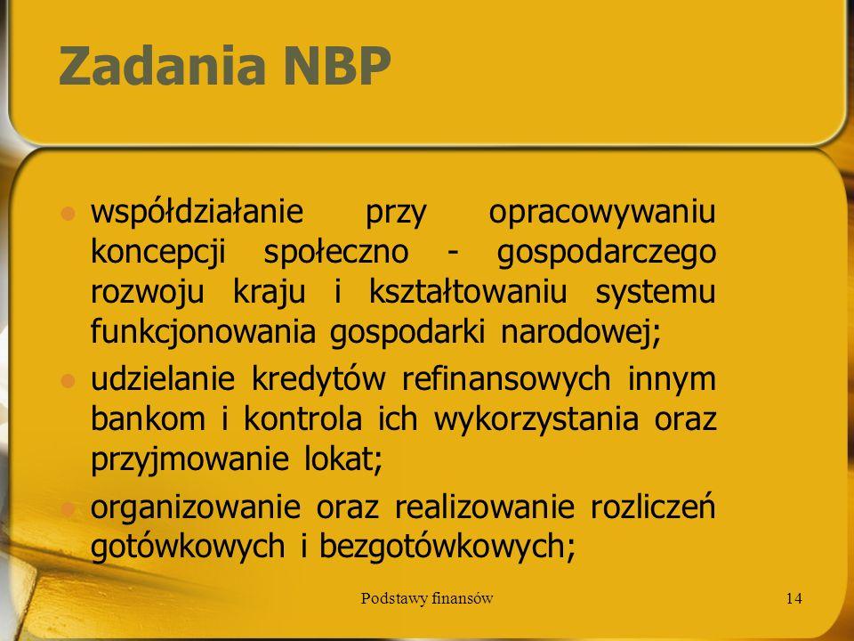 Zadania NBP