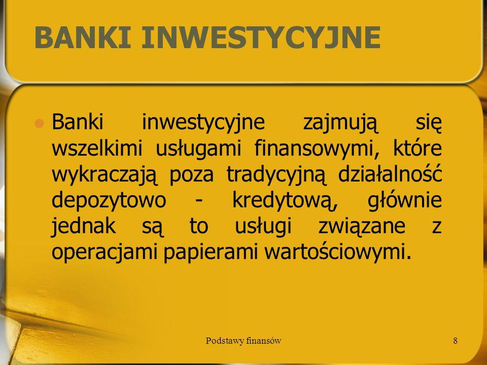 BANKI INWESTYCYJNE